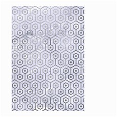 Hexagon1 White Marble & Silver Paint (r) Small Garden Flag (two Sides) by trendistuff