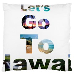 Hawaii Standard Flano Cushion Case (two Sides) by Howtobead