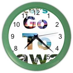 Hawaii Color Wall Clocks by Howtobead