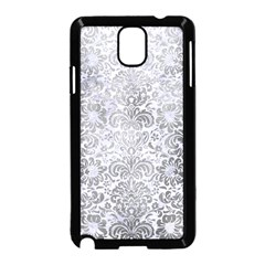 Damask2 White Marble & Silver Paint (r) Samsung Galaxy Note 3 Neo Hardshell Case (black) by trendistuff