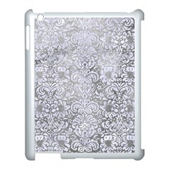 Damask2 White Marble & Silver Paint Apple Ipad 3/4 Case (white) by trendistuff