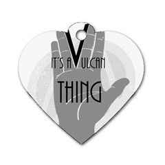 It s A Vulcan Thing Dog Tag Heart (two Sides) by Howtobead