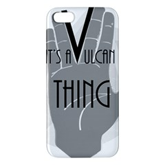 It s A Vulcan Thing Apple Iphone 5 Premium Hardshell Case by Howtobead