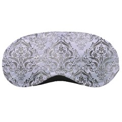 Damask1 White Marble & Silver Paint (r) Sleeping Masks by trendistuff