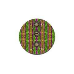 Sunset Love In The Rainbow Decorative Golf Ball Marker by pepitasart