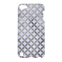 Circles3 White Marble & Silver Paint (r) Apple Ipod Touch 5 Hardshell Case by trendistuff
