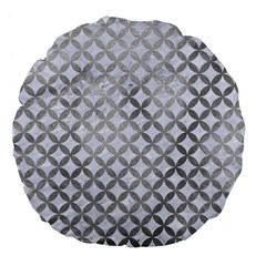 Circles3 White Marble & Silver Paint (r) Large 18  Premium Flano Round Cushions by trendistuff