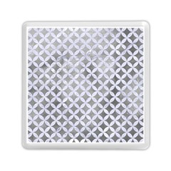 Circles3 White Marble & Silver Paint Memory Card Reader (square)  by trendistuff