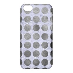 Circles1 White Marble & Silver Paint (r) Apple Iphone 5c Hardshell Case
