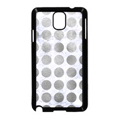 Circles1 White Marble & Silver Paint (r) Samsung Galaxy Note 3 Neo Hardshell Case (black) by trendistuff