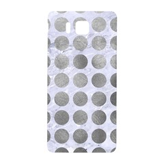Circles1 White Marble & Silver Paint (r) Samsung Galaxy Alpha Hardshell Back Case by trendistuff