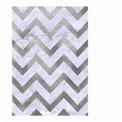 Chevron9 White Marble & Silver Paint (r) Small Garden Flag (two Sides) by trendistuff