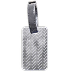 Brick2 White Marble & Silver Paint Luggage Tags (two Sides) by trendistuff
