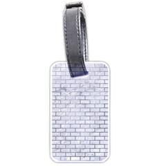 Brick1 White Marble & Silver Paint (r) Luggage Tags (two Sides) by trendistuff