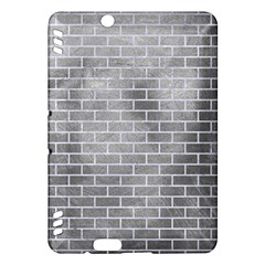 Brick1 White Marble & Silver Paint Kindle Fire Hdx Hardshell Case