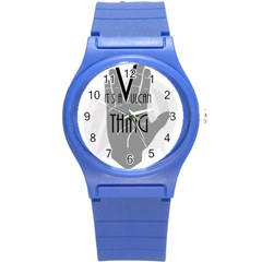 It s A Vulcan Thing Round Plastic Sport Watch (s) by Howtobead