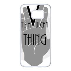 It s A Vulcan Thing Samsung Galaxy S7 Edge White Seamless Case by Howtobead
