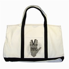 It s A Vulcan Thing Two Tone Tote Bag by Howtobead