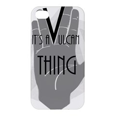 It s A Vulcan Thing Apple Iphone 4/4s Premium Hardshell Case by Howtobead