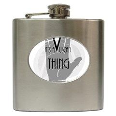 Vulcan Thing Hip Flask (6 Oz) by Howtobead