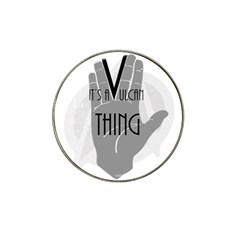 Vulcan Thing Hat Clip Ball Marker by Howtobead
