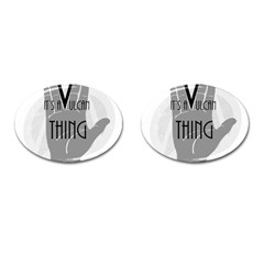 Vulcan Thing Cufflinks (oval) by Howtobead