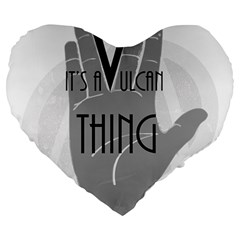 Vulcan Thing Large 19  Premium Heart Shape Cushions by Howtobead