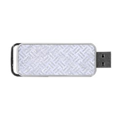 Woven2 White Marble & Silver Glitter (r) Portable Usb Flash (two Sides) by trendistuff