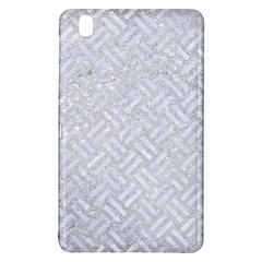Woven2 White Marble & Silver Glitter Samsung Galaxy Tab Pro 8 4 Hardshell Case by trendistuff