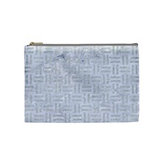Woven1 White Marble & Silver Glitter (r) Cosmetic Bag (medium)  by trendistuff
