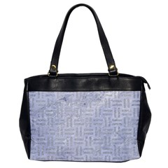 Woven1 White Marble & Silver Glitter (r) Office Handbags by trendistuff