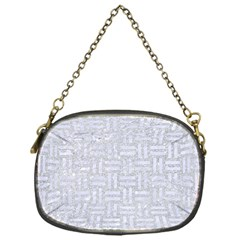 Woven1 White Marble & Silver Glitter Chain Purses (one Side)  by trendistuff