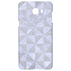 Triangle1 White Marble & Silver Glitter Samsung C9 Pro Hardshell Case  by trendistuff