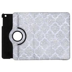 Tile1 White Marble & Silver Glitter Apple Ipad Mini Flip 360 Case by trendistuff