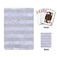 Stripes2white Marble & Silver Glitter Playing Card by trendistuff