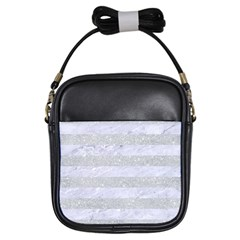 Stripes2white Marble & Silver Glitter Girls Sling Bags by trendistuff