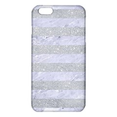Stripes2white Marble & Silver Glitter Iphone 6 Plus/6s Plus Tpu Case by trendistuff