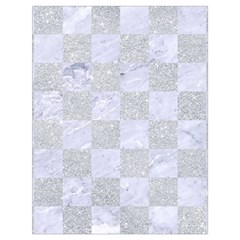 Square1 White Marble & Silver Glitter Drawstring Bag (large) by trendistuff
