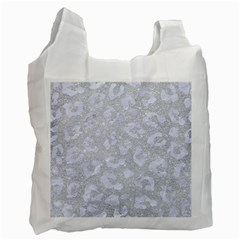 Skin5 White Marble & Silver Glitter (r) Recycle Bag (two Side)  by trendistuff