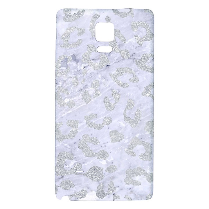 SKIN5 WHITE MARBLE & SILVER GLITTER Galaxy Note 4 Back Case