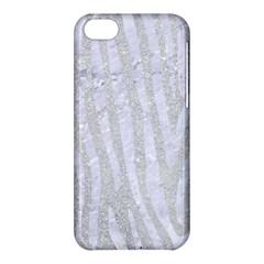 Skin4 White Marble & Silver Glitter (r) Apple Iphone 5c Hardshell Case by trendistuff