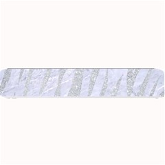 Skin3 White Marble & Silver Glitter (r) Small Bar Mats