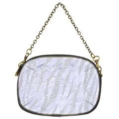 Skin3 White Marble & Silver Glitter (r) Chain Purses (two Sides)  by trendistuff