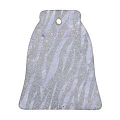 Skin3 White Marble & Silver Glitter Ornament (bell) by trendistuff