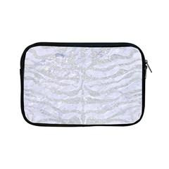 Skin2 White Marble & Silver Glitter (r) Apple Ipad Mini Zipper Cases by trendistuff