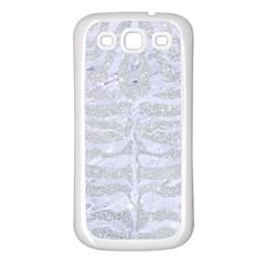 Skin2 White Marble & Silver Glitter Samsung Galaxy S3 Back Case (white) by trendistuff
