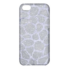 Skin1 White Marble & Silver Glitter (r) Apple Iphone 5c Hardshell Case by trendistuff