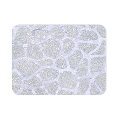 Skin1 White Marble & Silver Glitter (r) Double Sided Flano Blanket (mini)