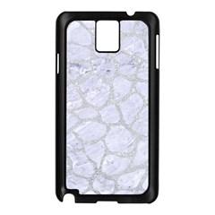 Skin1 White Marble & Silver Glitter Samsung Galaxy Note 3 N9005 Case (black) by trendistuff