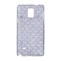 Scales3 White Marble & Silver Glitter (r) Samsung Galaxy Note 4 Hardshell Case